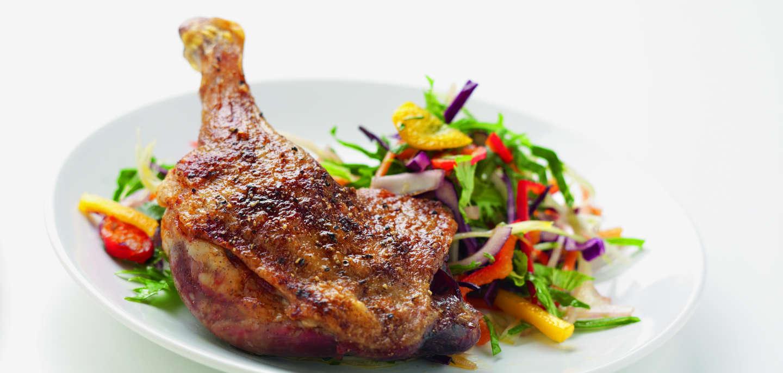 Five-Spice Duck Leg & Asian Slaw Recipe · Gressingham